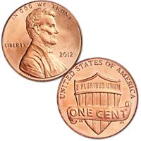 Lincoln Cent 2012