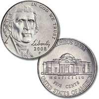 2008 Jefferson Nickel