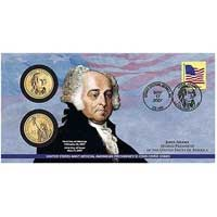2007 John Adams $1 Coin Cover (P22)