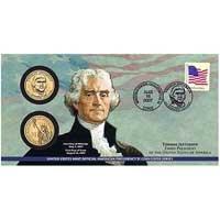 2007 Thomas Jefferson $1 Coin Cover (P23)