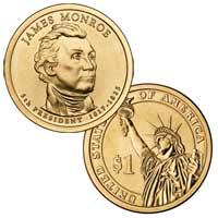 James Monroe Presidential Dollar 2008