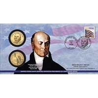 2008 John Quincy Adams $1 Coin Cover (P26)
