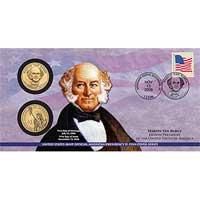 2008 Martin Van Buren $1 Coin Cover (P28)