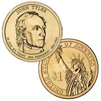 John Tyler Presidential Dollar 2009