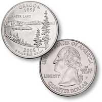 2005 Oregon Quarter