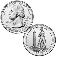 Perry's Victory and International Peace Memorial Quarter (Ohio) 2013