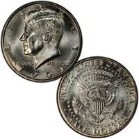 Kennedy Half Dollar 1991