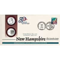 2000 - New Hampshire First Day Coin Cover (Q18)