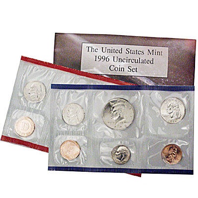 """Complete Mint Set without the /""""w/"""" Dime 1996  U.S MINT SET"""