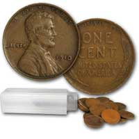 Lincoln Wheat Cent Roll 1910