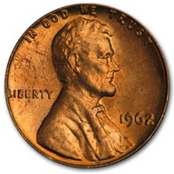 1962 Lincoln Cent