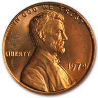 1974 Lincoln Cent