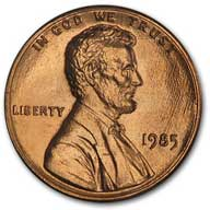 1985 Lincoln Cent
