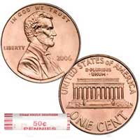 Lincoln Memorial Cent 2006 BU Roll