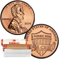 Lincoln Cent Roll - Preservation of the Union 2014