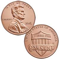 Lincoln Cent 2016