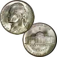1945 S Jefferson Nickel