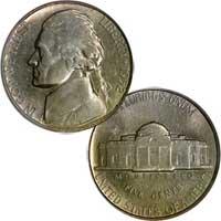 1952 S Jefferson Nickel