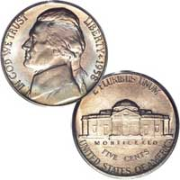 1958 D Jefferson Nickel