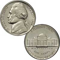 1972 Jefferson Nickel