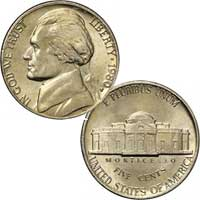 1980 Jefferson Nickel