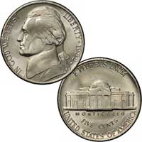 1982 Jefferson Nickel