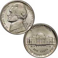 1985 Jefferson Nickel
