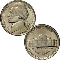 1986 Jefferson Nickel