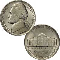 1989 Jefferson Nickel