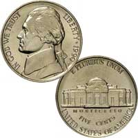 1990 Jefferson Nickel
