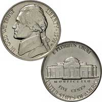 1991 Jefferson Nickel