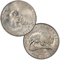 2005 Jefferson Nickel American Bison
