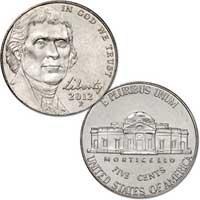 2012 Jefferson Nickel