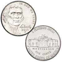 2015 Jefferson Nickel