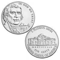 2017 Jefferson Nickel