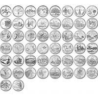 1999-2008 Complete Statehood Quarter Set Uncirculated