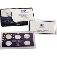 1999 United States Mint 50 State Quarters Proof Set (Q99)