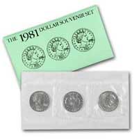 1981 3-Coin Souvenir SBA Set Brilliant Uncirculated