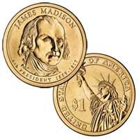James Madison Presidential Dollar 2007