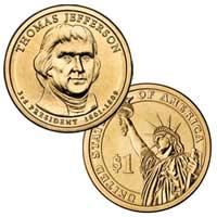 Thomas Jefferson Presidential Dollar 2007