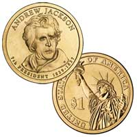Andrew Jackson Presidential Dollar 2008