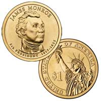 James Monroe Presidential Dollar 2008