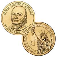 John Quincy Adams Presidential Dollar 2008