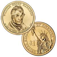 William Henry Harrison Presidential Dollar 2009