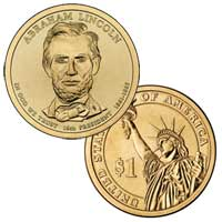 Abraham Lincoln Presidential Dollar 2010