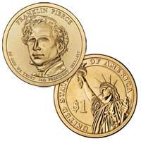 Franklin Pierce Presidential Dollar 2010