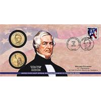 2010 Millard Fillmore $1 Coin Cover (P33)