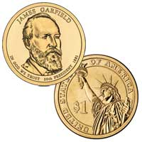 James A. Garfield Presidential Dollar 2011