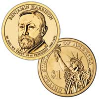 Benjamin Harrison Presidential Dollar 2012