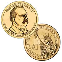 Grover Cleveland (Second Term) Presidential Dollar 2012